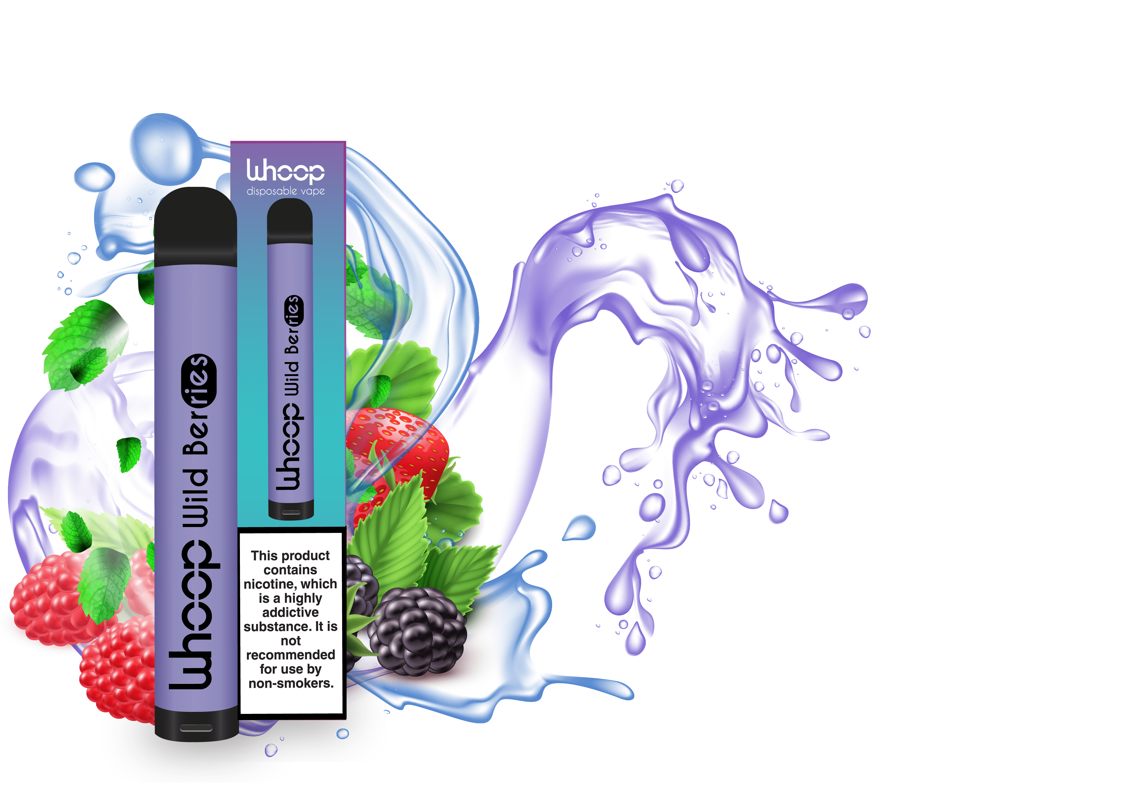 Disposable e-cig Whoop Wild Berries